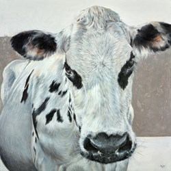 Moody by Vicky Palmer - Original Painting on Stretched Canvas sized 24x24 inches. Available from Whitewall Galleries